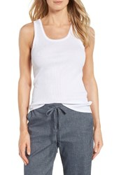 Nordstrom Women's Collection Pima Cotton Racerback Tank White
