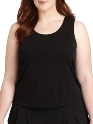 Eileen Fisher Plus Size Silk Tank Top White Black