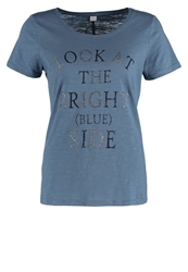S.Oliver Print Tshirt Flavour Blue Placed Prin