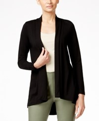 Vince Camuto Open Front High Low Cardigan Rich Black