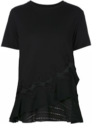 Thakoon Embroidered Layer T Shirt Black