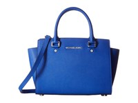 Michael Michael Kors Selma Medium Tz Satchel Elctric Blue Satchel Handbags