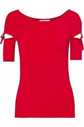 Bailey 44 Za'atar Cutout Stretch Jersey Top Red