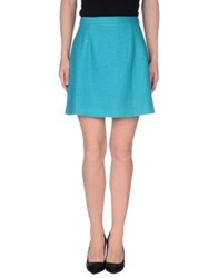 Made For Loving Mini Skirts Turquoise