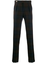 Tagliatore Plaid Trousers Blue