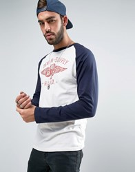 Denim And Supply Ralph Lauren Long Sleeve Top Baseball White