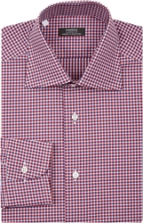 Fairfax Micro Check Dress Shirt Red
