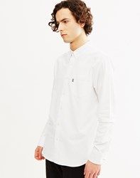 Huf Stanford Oxford Long Sleeve Shirt White