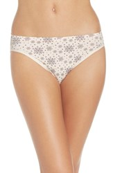 Nordstrom Women's Lingerie Seamless High Cut Briefs Pink Creole Snowflakes Print