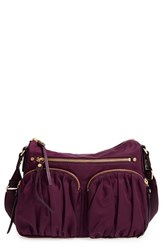 M Z Wallace Mz 'Paige' Bedford Nylon Crossbody Bag Purple Mulberry
