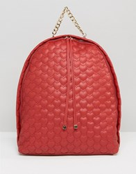 Yoki Fashion Quilted Backpack Ruby Red
