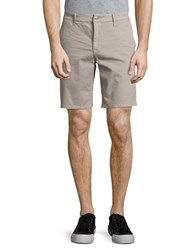 7 For All Mankind Stretch Cotton Flat Front Shorts Dusty Grey