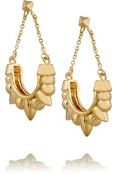 Pamela Love Tribal Spike Gold Plated Earrings Metallic