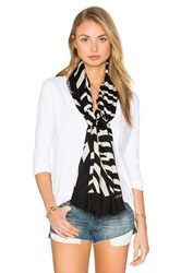 Marc Jacobs Zebra Scarf Black And White