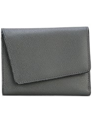 Valextra Asymmetric Flap Wallet Grey