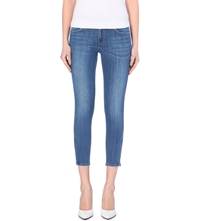 Lee Scarlett Cropped Skinny Mid Rise Jeans Indigo Blue