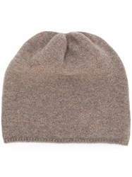 Danielapi Super Soft Beanie Brown