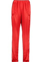 Lanvin Silk Satin Tapered Pants