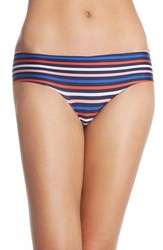 Women's Halogen 'No Show' Cheeky Hipster Briefs Navy Dusk Stripe