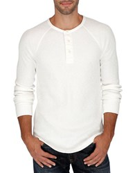 Lucky Brand Thermal Henely Shirt White
