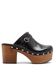 Alexachung Perforated Leather Clogs Black