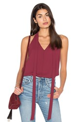 Bcbgeneration Tied Neck Tank Burgundy