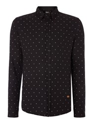 Red Soul Shirt With Printed Stars Black