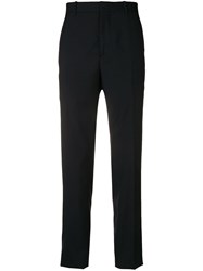 Oamc Slim Fit Pleated Trousers Blue