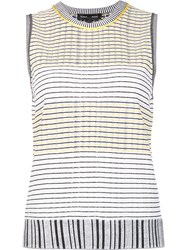 Proenza Schouler Striped Tank Top White