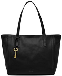 Fossil Emma Leather Tote Black