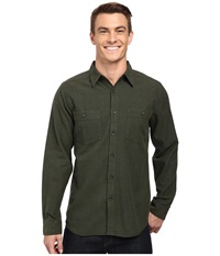 Royal Robbins Bristol Tweed Long Sleeve Shirt Dark Spruce Men's Long Sleeve Button Up Green