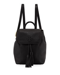 Tory Burch Mcgraw Pebbled Leather Backpack Black