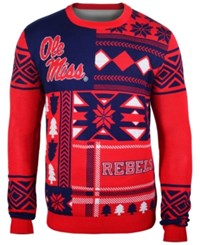 Forever Collectibles Men's Mississippi Rebels Patches Christmas Sweater