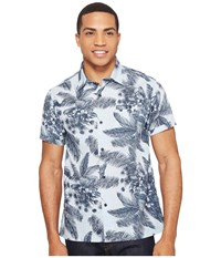 Hurley Long Waves Short Sleeve Woven Obsidian Men's Clothing Brown
