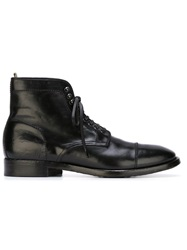 Officine Creative Lace Up Boots Black