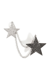 Nikos Koulis 18Kt White Gold And Diamond Double Star Cuff Earring