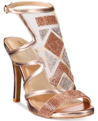 Thalia Sodi Regalo Embellished Sandals Only At Macy's Women's Shoes Rose Gold