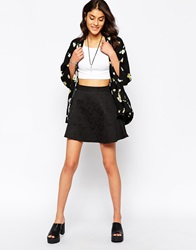 Motel Miss Skater Skirt Black