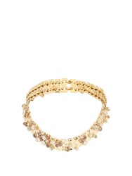 Lanvin Chain Lumiere Crystal Embellished Necklace Gold Multi