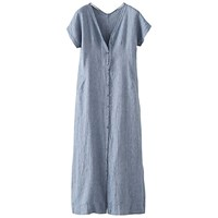Poetry Linen Maxi Dress Soft Denim