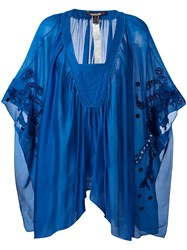 Roberto Cavalli Pleated Tunic Blue