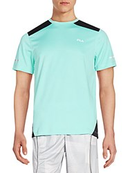 Fila Advance Colorblock Performance Tee Lucite Green