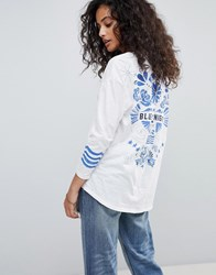 Maison Scotch Ceramic Tattoo Back Sweatshirt Combo A White