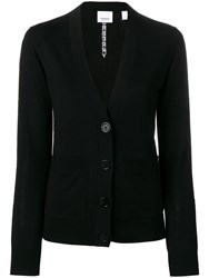 Burberry Button Front Cardigan Black