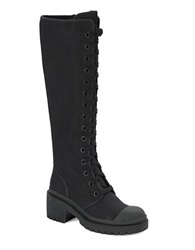 Marc By Marc Jacobs Knee High Army Boots Black