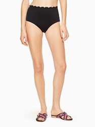 Kate Spade Scalloped High Waist Bottom Black
