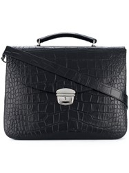 Orciani Classic Top Handle Briefcase Black