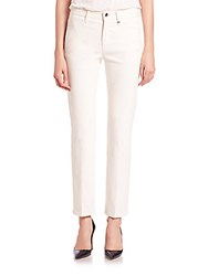 Helmut Lang Cotton Canvas Jeans Ivory