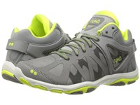 Ryka Enhance 3 Frost Grey Summer Grey Lime Shock Women's Shoes Gray