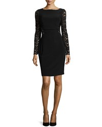 Laundry By Shelli Segal Long Sleeve Lace Cutout Dress Black